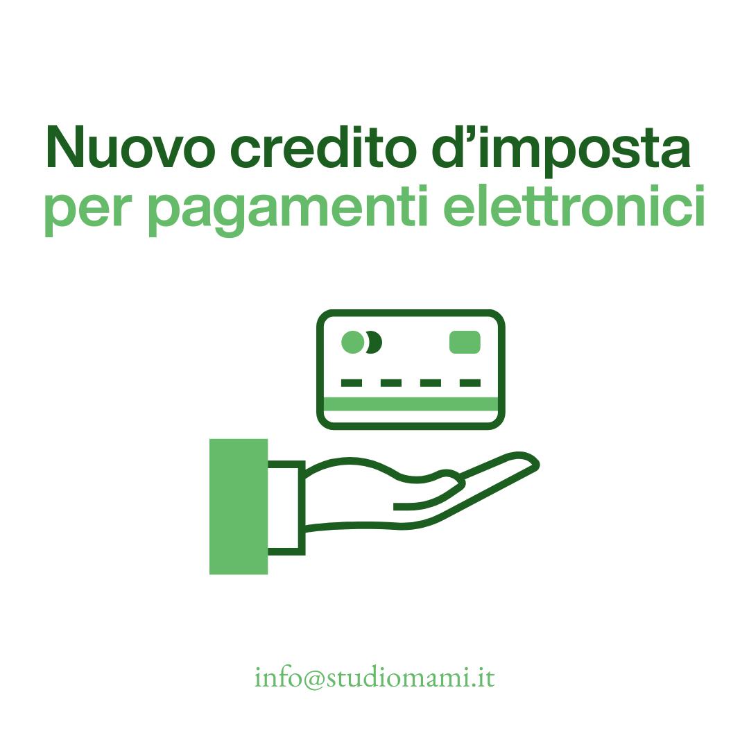 Credito d'imposta per pagamenti elettronici