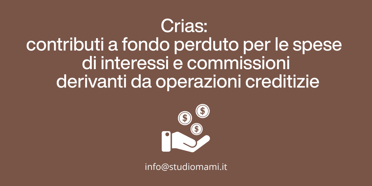 CRIAS - Rimborsi di interessi e commissioni