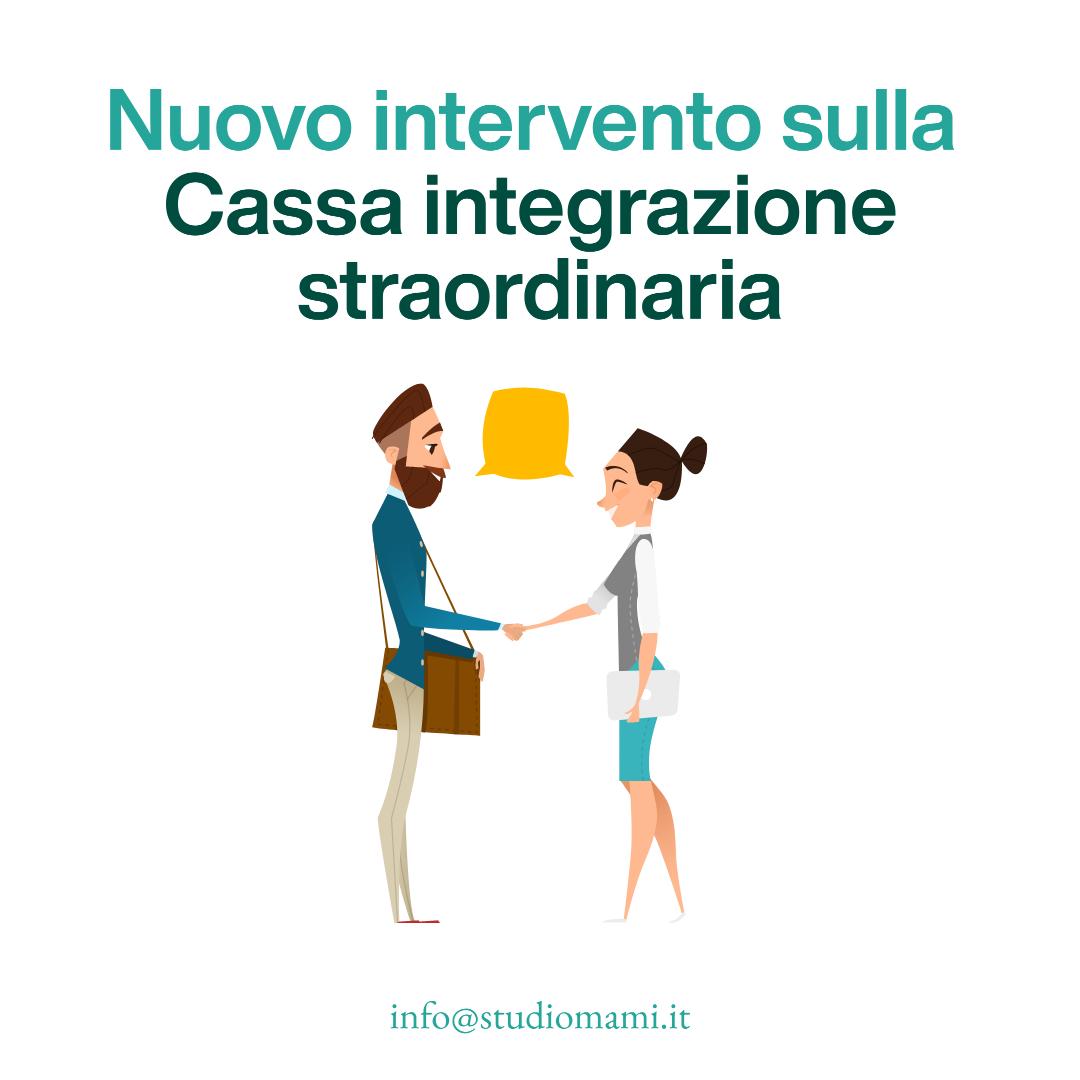 nuovo intervento sulla Cassa integrazione straordinaria